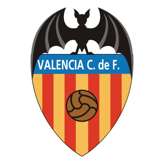 西甲瓦伦西亚队徽标志LOGO矢量图下载地址Valencia